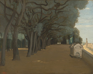 Art Prints of Terrace in Pamphili, Rome by Camille Corot