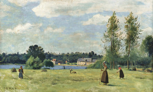 Art Prints of Tedders to the City of d'Avray by Camille Corot