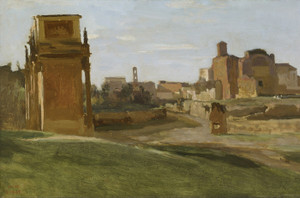 Art Prints of The Arch of Constantine and the Forum, Rome by Camille Corot