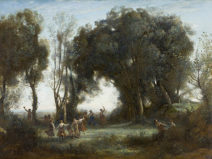 Art Prints of The Dance of the Nymphs by Camille Corot