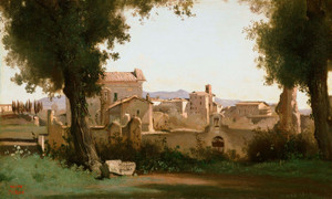 Art Prints of View from the Farnese Gardens by Camille Corot