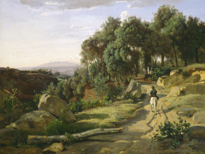 Art Prints of View of Volterra by Camille Corot