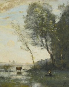 Art Prints of Watering the Cow by Camille Corot