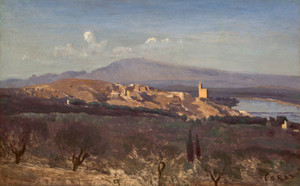 Art Prints of Villeneuve les Avignon by Camille Corot