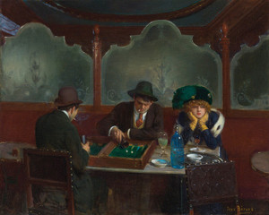 Art Prints of Backgammon Players by Jean Beraud