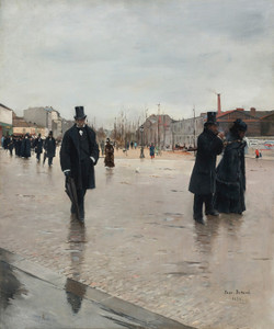 Art Prints of Leaving Montmartre Cemetery by Jean Beraud