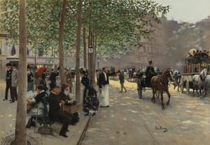 Art Prints of Paris Avenue by Jean Beraud