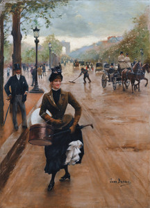 Art Prints of The Milliner on the Champs Elysees by Jean Beraud
