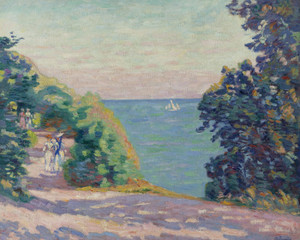 Art Prints of August Evening Saint Palais by Jean-Baptiste-Armand Guillaumin