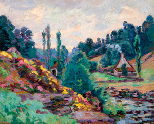 Art Prints of Le Moulin De Jonon Creuse by Jean-Baptiste-Armand Guillaumin