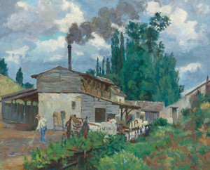 Art Prints of The Banks of the Bievre by Jean-Baptiste-Armand Guillaumin