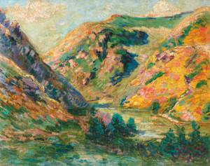Art Prints of The Carolles Valley Lude by Jean-Baptiste-Armand Guillaumin