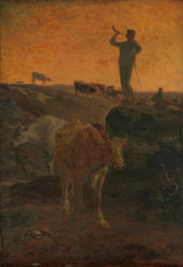 Art Prints of Calling the Cows Home by Jean-Francois Millet