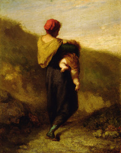 Art Prints of Mother and Child by Jean-Francois Millet