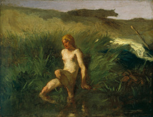 Art Prints of The Bather by Jean-Francois Millet