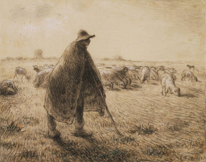 Art Prints of The Shepherd by Jean-Francois Millet