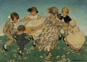 Around the Ring of Roses by Jessie Willcox Smith | Fine Art Print