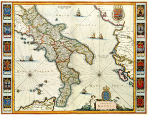 Art Prints of Southern Italy, the Kingdom of Naples (192) by Joan and Cornelis Blaeu