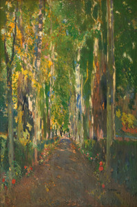 Art Prints of The Path to Casa Guell by Joaquim Mir