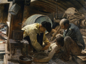 Art Prints of And They Said Fish Is Expensive by Joaquin Sorolla y Bastida