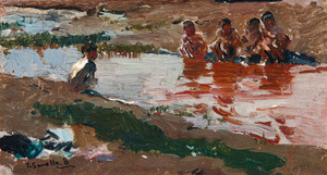 Art Prints of At the Riverside by Joaquin Sorolla y Bastida