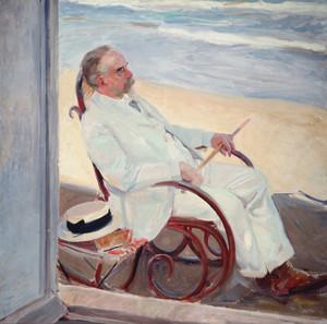 Art Prints of Antonio Garcia at the Beach by Joaquin Sorolla y Bastida