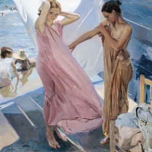 Art Prints of After Bathing, Valencia by Joaquin Sorolla y Bastida