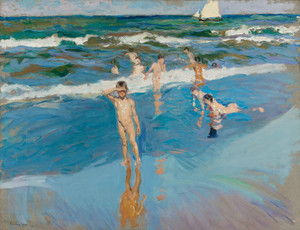 Art Prints of Children on the Beach, Valencia by Joaquin Sorolla y Bastida