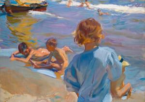 Art Prints of Children on the Beach, Valencia II by Joaquin Sorolla y Bastida