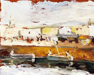 Art Prints of Fishing Port at San Sebastian by Joaquin Sorolla y Bastida