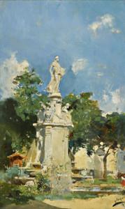 Art Prints of The Apollo Fountain, Madrid by Joaquin Sorolla y Bastida