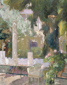 Art Prints of The Gardens at the Sorolla Family House by Joaquin Sorolla y Bastida