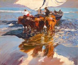 Art Prints of The Return from Fishing, Valencia Beach by Joaquin Sorolla y Bastida
