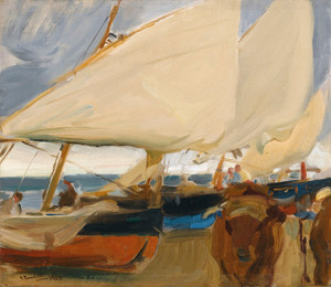 Art Prints of Valencia Beach by Joaquin Sorolla y Bastida