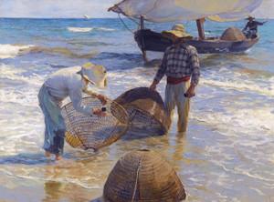 Art Prints of Valencian Fishermen by Joaquin Sorolla y Bastida