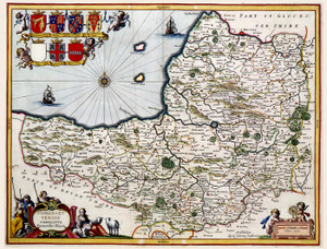 Art Prints of Cornubia Sive Cornwallia, 1646 (227) by Johannes Jannsonius