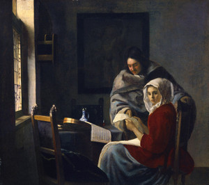 Art Prints of Girl Interrupted at Her Music by Johannes Vermeer