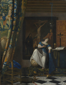 Art Prints of Allegory of the Catholic Faith by Johannes Vermeer