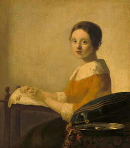 Art Prints of After the Lacemaker by Johannes Vermeer