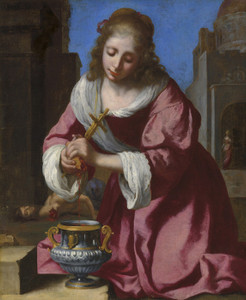 Art Prints of Saint Praxedis by Johannes Vermeer