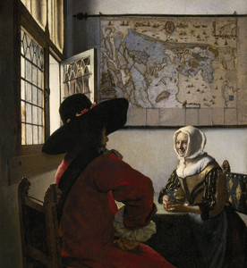Art Prints of Officer and Laughing Girl by Johannes Vermeer