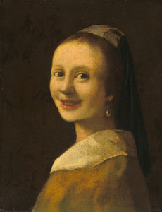 Art Prints of The Smiling Girl by Johannes Vermeer