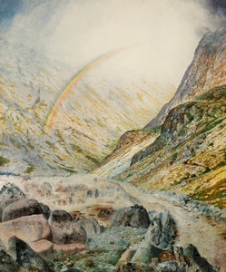 Art Prints of A Mountain Road Flood Time by John Atkinson Grimshaw