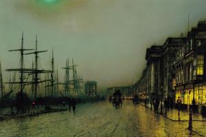 Art Prints of Canny Glasgow by John Atkinson Grimshaw