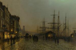 Art Prints of Glasgow Saturday Night by John Atkinson Grimshaw
