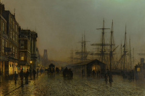 Art Prints of Glasgow Saturday Night by John Atkinson Grimshaw