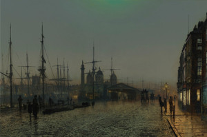 Art Prints of Hull Docks at Night by John Atkinson Grimshaw