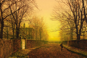 Art Prints of Golden Autumn by John Atkinson Grimshaw