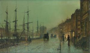 Art Prints of Glasgow Docks 1881 by John Atkinson Grimshaw
