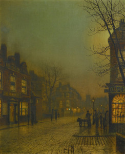 Art Prints of Wanesworth by Moonlight by John Atkinson Grimshaw